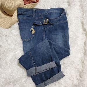 Baby Phat Plus Sz. 17 Buckle Side Capri Jeans
